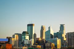 downtown minneapolis, minnesota - stock photo