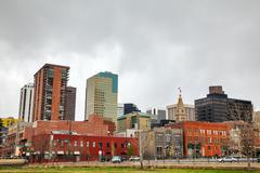 Downtown denver cityscape Stock Photos