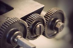 Vintage cog wheels Stock Photos