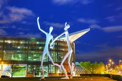 the dancers public sculpture in denver - stock photo