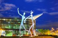Stock Photo of the dancers public sculpture in denver