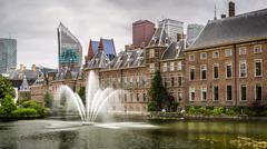 Senate building of the Dutch parliament complex, The Hague, The Netherlands. Stock Photos