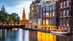 Amsterdam cityscape Kuvituskuvat
