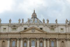 monumental st. peter's basilica in rome, vatican, italy - stock photo
