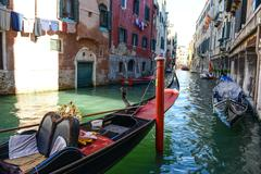 Venice italy - gondola and buildings Stock Photos