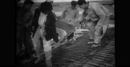 Turkish workers building mausoleum for Mustafa Kemal Ataturk president Stock Footage