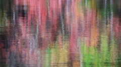 Vivid colors reflect in water Stock Footage