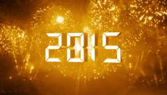 Gold countdown to happy new year 2015 Stock Footage
