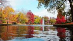 Ohio State - Mirror Lake 1080/24p Stock Footage