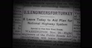 Close-up of newspaper Stock Footage