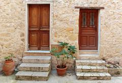Stock Photo of entrance to the old french house