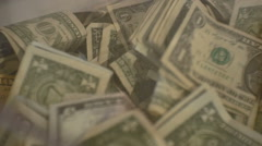 Donations box full money Stock Footage