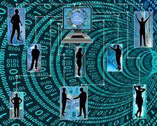 Internet unites humanity Stock Illustration