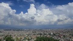 Nepal Kathmandu City cloudscape time lapse Stock Footage