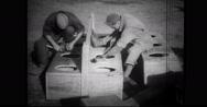 Brazilian carpenters making a desk Stock Footage