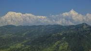 Stock Video Footage of Nepal Himalaya Anapurna mountain range time lapse