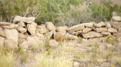 Mysterious rock structure rocks Stock Footage