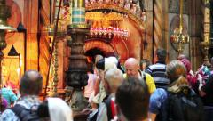 Crowds at the Church of the Holy Sepulchre Stock Footage