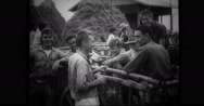 American POW's talking amongst themselves Stock Footage
