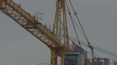 Construction crane 4K + HD _turning Stock Footage