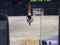 FMX mini backflips, 2 scenes. Stock Footage