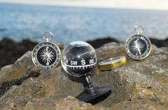 Stock Photo of analogic compass