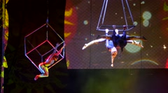 Circus artist  show Stock Footage