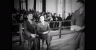 Interpreter translating statement of Nazi commandant Stock Footage