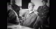 German civilian hearing the trial in court room Stock Footage