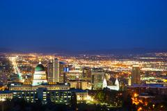 salt lake city overview - stock photo
