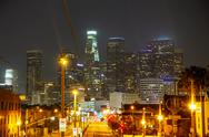 Stock Photo of los angeles downtown cityscape
