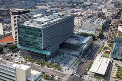 California department of transportation building (caltrans district 7) in los Stock Photos
