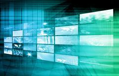 Stock Illustration of internet multimedia