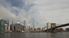Time lapse zoom in extreme close up Manhattan skyline - stock footage