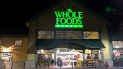 Whole Foods Market drive up Stock Footage