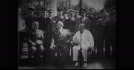 Franklin Roosevelt, Chiang Kai Shek, Winston Churchill at Cairo Conference Stock Footage
