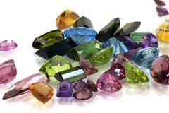 Assorted Gemstones - stock photo