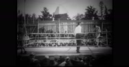 Military soldiers boxing in a boxing ring Stock Footage