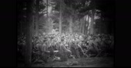 Military soldiers attending church parade Stock Footage
