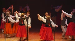 Latvian folk dance Stock Footage