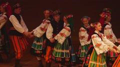 Slow polish folk dance 4k Stock Footage
