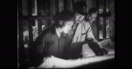 Three men preparing a plan in factory Stock Footage