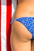 sexiest part of the female body in a bathing suit - stock photo