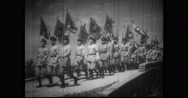 Nationalist Youth Corps units marching and working in farms Stock Footage