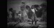 Nationalist Youth Corps units working in farm Stock Footage