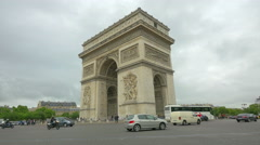 Arc de Triomphe, Paris, France, 4k UHD Stock Footage