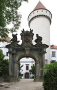 Gateway to Konopiste in Czech Republic. - stock photo