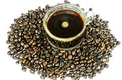 Stock Photo of coffee beans isolated