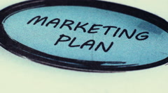 Marketing Plan To Financial Planning Stock Footage