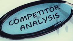 Stock Video Footage of Competitor Analysis To Mission Statement